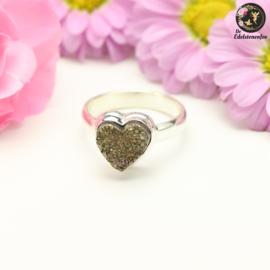 Pyriet Fairy   .925 Hartjes Ring