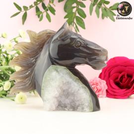 Paardenhoofd Sculptuur van Agaat nr. 3