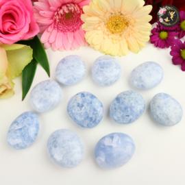 Blauwe Calciet Amuletsteen