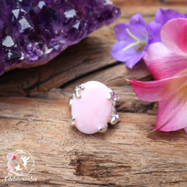 Statement Ring ROZE OPAAL .925 Sterling Zilver