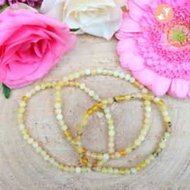 Gele Opaal Kogelarmband 4 mm