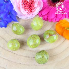 Groen Opaal trommelsteen rond