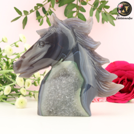 Paardenhoofd Sculptuur van Agaat nr. 4