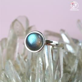 Labradoriet Ring verstelbaar AA kwaliteit
