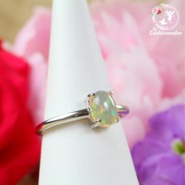 Welo Ethiopische Opaal Ring 5x7mm AAA kwaliteit