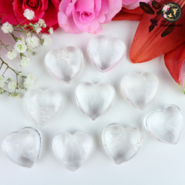 Bergkristal Geslepen Hart ~ 3 cm