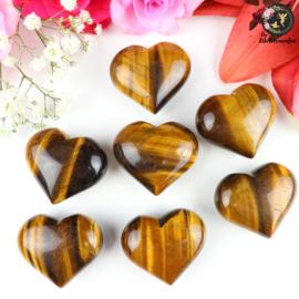 Tijgeroog hart ~ 4 cm
