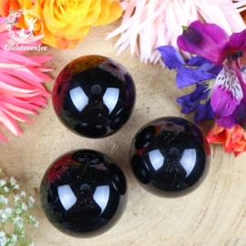 Zwarte Toermalijn Bol ( Schörl ) A-kwaliteit