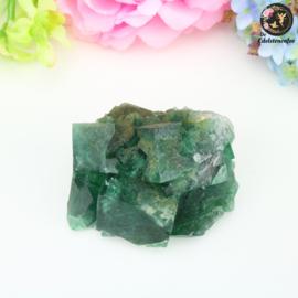 Fluoriet ruw Smaragd Groen nr. 4