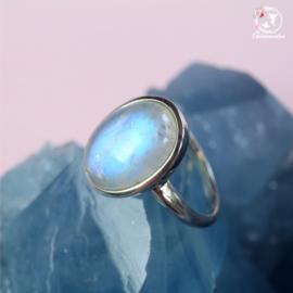 Regenboog Maansteen Ring  AAA kwaliteit