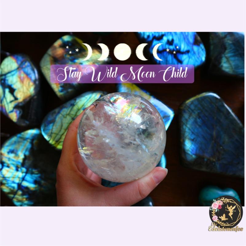 Edelstenen Ansichtkaart Stay Wild Moon Child