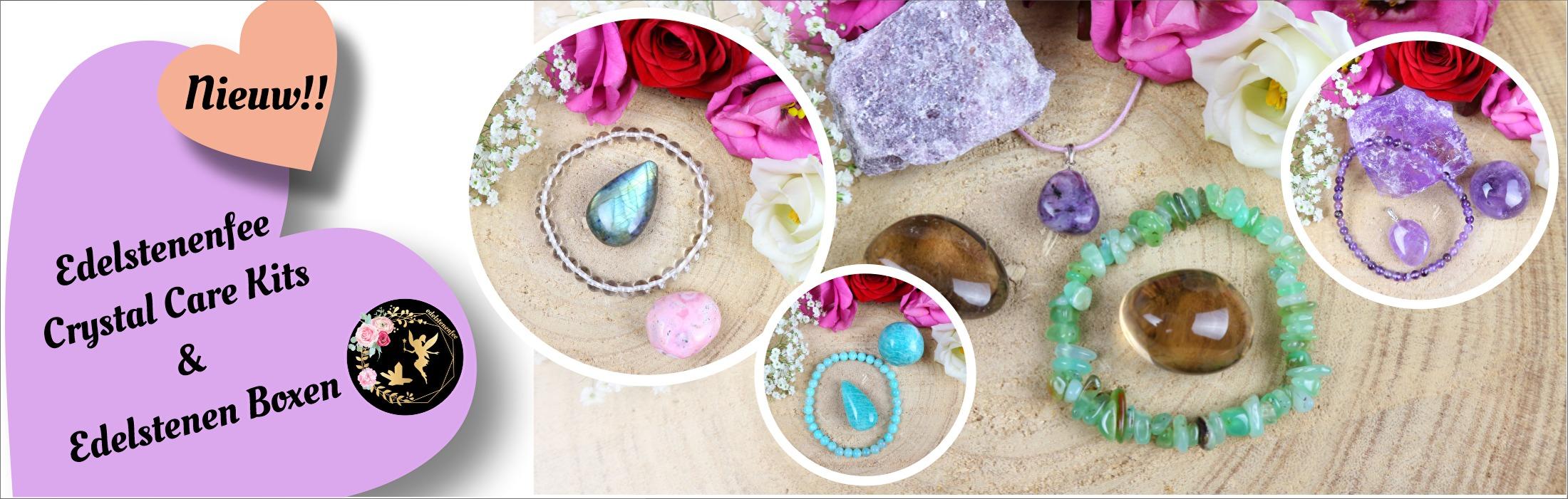 NIEUW!! Edelstenenfee Crystal Care Kits & Edelstenen Boxen!