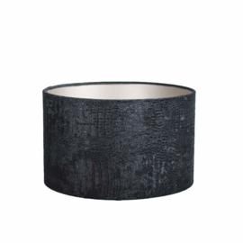 lampenkap Velvet Kroko Black