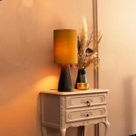 Tafellamp Grace noir/moutarde
