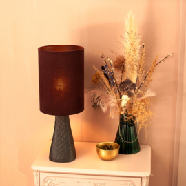 Tafellamp Grace noir/aubergine