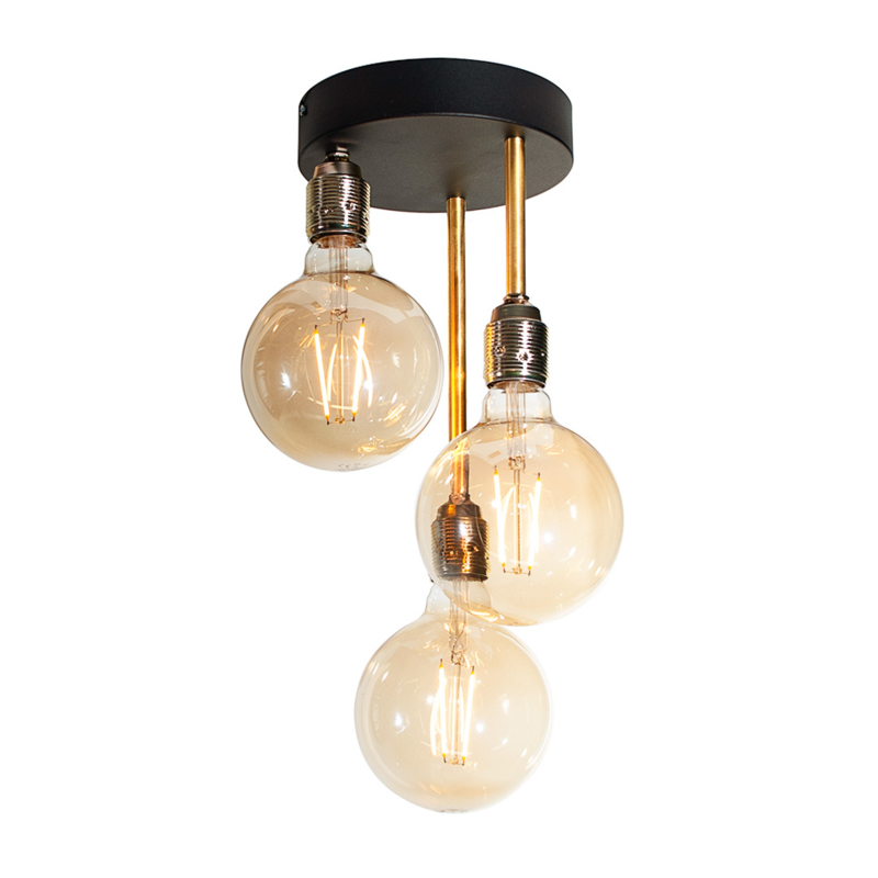 Bardot 3-lichts plafonnière