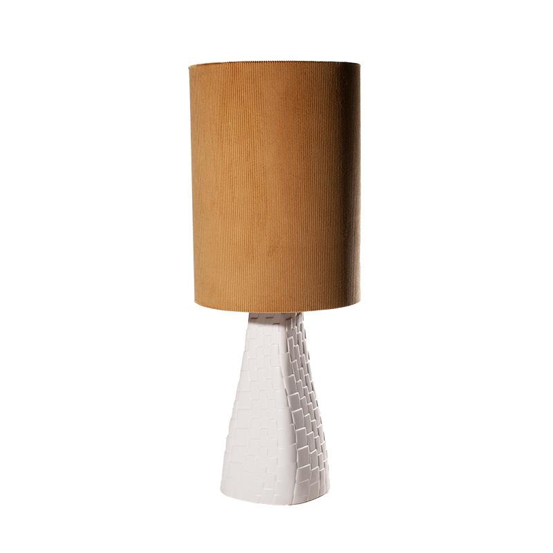 Tafellamp Grace blanc/moutarde