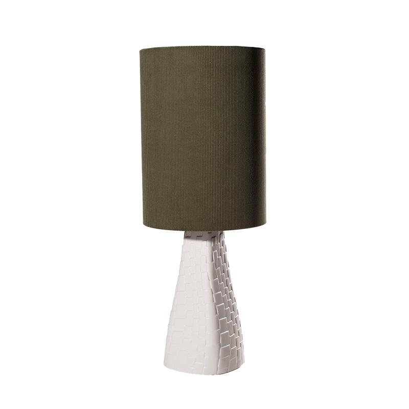 Tafellamp Grace blanc/vert
