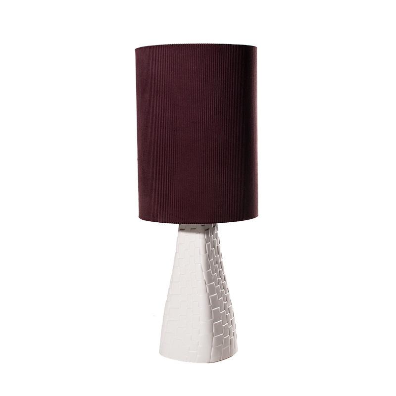 Tafellamp Grace blanc/aubergine