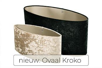 Ovale Lampenkap met Kroko print