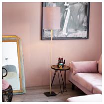 Vloerlamp Bardot met velvet kap