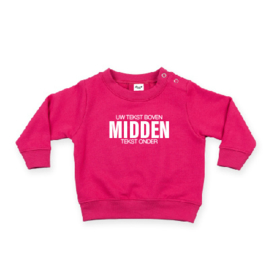 baby sweater met EIGEN QUOTE