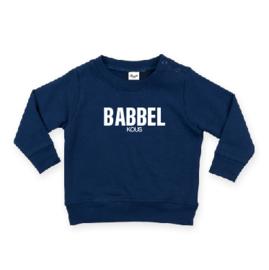 baby sweater met BABBEL KOUS