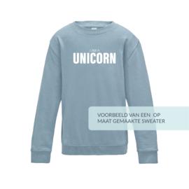 kids sweater met uw EIGEN QUOTE