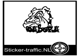 Subaru bulldog sticker
