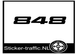 Ducati 848 sticker