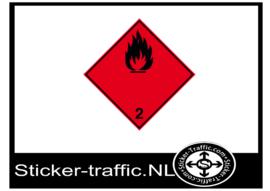 Ontvlambare gassen sticker