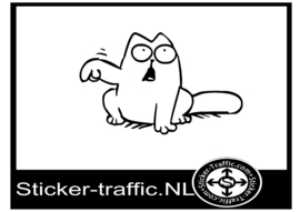 Simon cat design 11 sticker