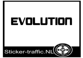 EVOLUTION remklauw sticker