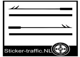 Boston whaler Harpoen sticker Set links + rechts