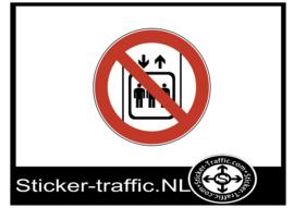 Lift gebruiken verboden sticker