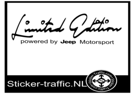 JEEP Limited Edition Sticker