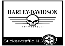 Harley Davidson Skull motorcycles sticker