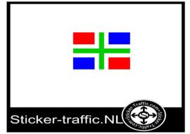Groningse vlag sticker