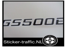 GS500E zwart met grijze rand Fullcolour sticker