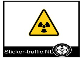 Loniserende straling sticker