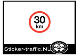 30 km sticker