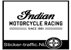 INDIAN motorcycle racing sticker