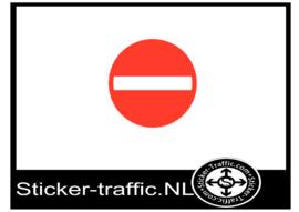 Verboden richting sticker