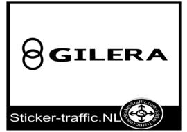 Gilera met logo sticker