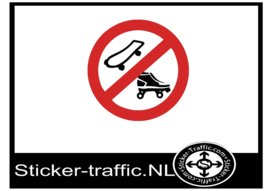 Skate en rolschaats Verboden sticker