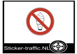 ijs verboden sticker