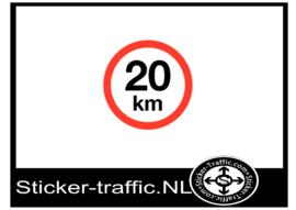 20 km sticker