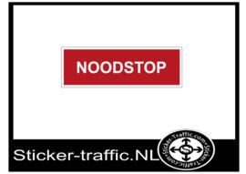 Noodstop sticker
