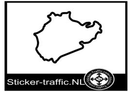 Nordschleife nurburgring circuit sticker