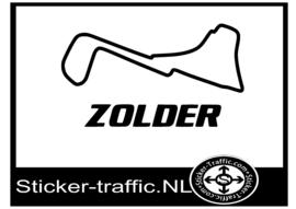 Zolder Belgie circuit sticker